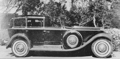 L'auto nel 1933, quando fu acquistata dalla Paramount